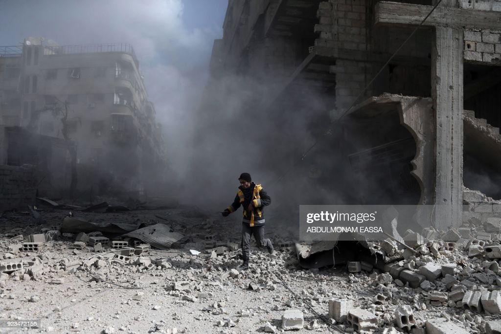 Deadly aerial campaign on rebel-held Eastern Ghouta killed at least 500