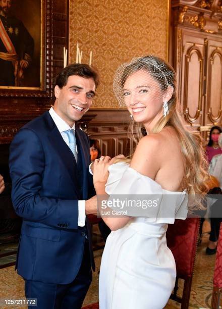 Civil Marriage of Eleonore of Habsburg and Jerome d'Ambrosio on July 20 2020 in Monaco MonacoEleonore von Habsburg and Jerome d'Ambrosio have made a...