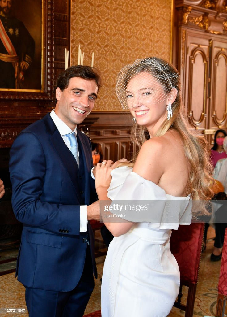 Civil Marriage Of Eleonore Of Habsburg And Jerome D'Ambrosio In Monaco : News Photo