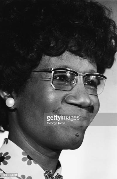 Civil rights activist and New York State Congresswoman Shirley Chisholm appears at a press conference during the 1976 New York New York Democratic...