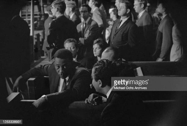 Civil rights activist Charles Evers attends the funeral of assassinated US Senator Robert F Kennedy at Saint Patrick's Cathedral in New York City,...