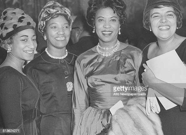 Civil Rights activist Daisy Bates Beverly Adams Ethel Moore and Pearl Beatty during an Association for the Advancement of Colored People Freedom Fund...