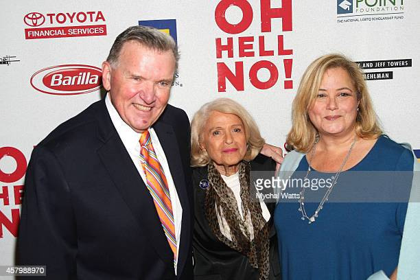Civil Rights Activist David Mixner Civil Rights Activist Edis Windsor and Hillary Rosen attend the Oh Hell No Opening Night Arrivals And Curtain Call...