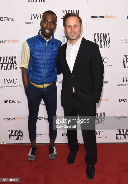 Civil rights activist DeRay Mckesson and writer/director Matt Ruskin attend the Crown Heights New York premiere at The Metrograph on August 15 2017...
