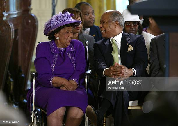Civil rights activist Dorothy Height attends an event commemorating the 40th Anniversary of Title VII of the Civil Rights Act of 1964 in the East...