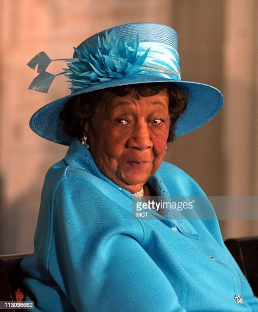 WASHINGTON DC Civil rights activist Dr Dorothy Height looks to others on the stage at a ceremony where she was awarded the Congressional Gold Medal...