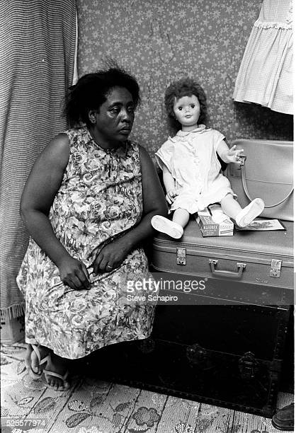 Civil Rights activist Fanny Lou Hamer in her home | Location Ruleville Mississippi USA