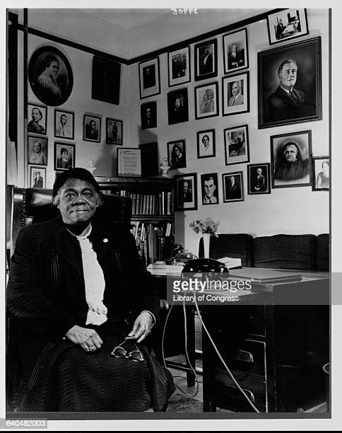 Civil Rights Activist Mary McLeod Bethune Sitting in Office
