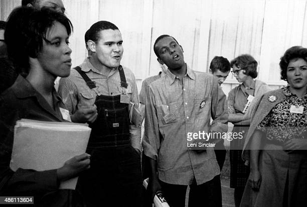 Civil rights activist Stokeley Carmichael and friends at the National Student Association conference in August in Bloomington, Indiana.