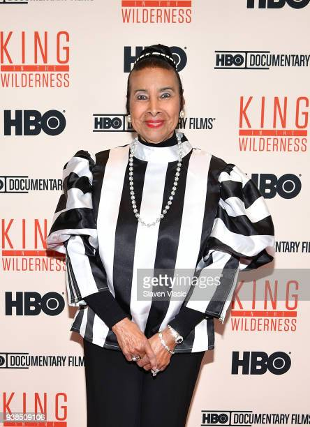 Civil Rights activist Xernona Clayton attends screening of HBO's 'King in the Wilderness' on March 26 2018 in New York City