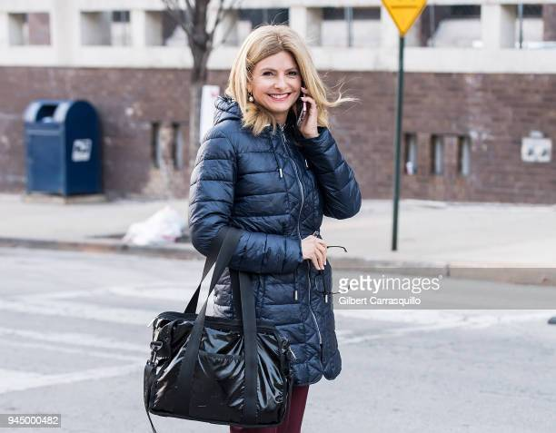 Civil rights attorney Lisa Bloom leaving the Montgomery County Courthouse for the third day of Bill Cosby's sexual assault charges on April 11 2018...
