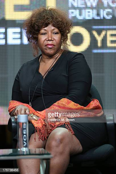 Civil rights icon Ruby Bridges speaks onstage during 'The African Americans Many Rivers to Cross with Henry Louis Gates Jr' panel discussion at the...