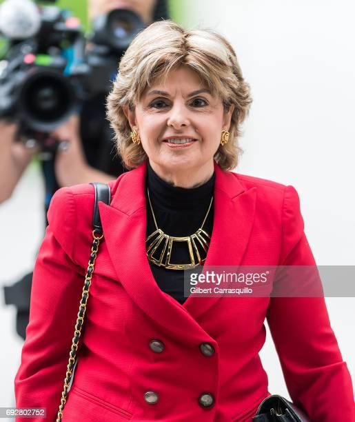 Civil rights lawyer Gloria Allred is seen arriving to the first day of Bill Cosby trial at Montgomery County Courthouse on June 5, 2017 in...