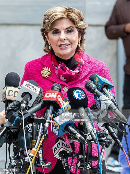 Civil rights lawyer Gloria Allred speaks at a news conference outside the Montgomery County Courthouse on May 24 2016 in Norristown Pennsylvania