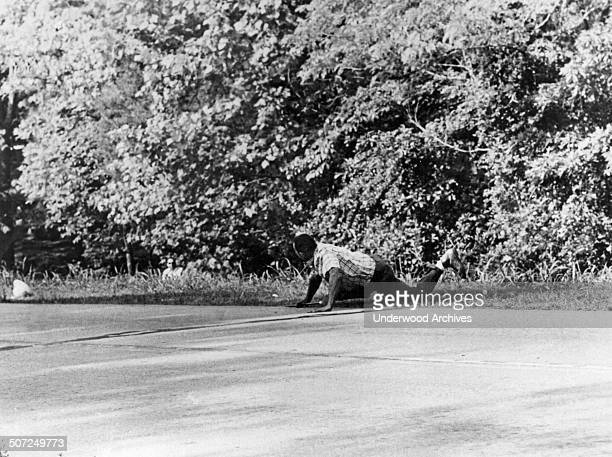 Civil rights leader James Meredith just after he was shot three times with a shotgun in an ambush by Aubrey James Norvell Hernandos Mississippi June...