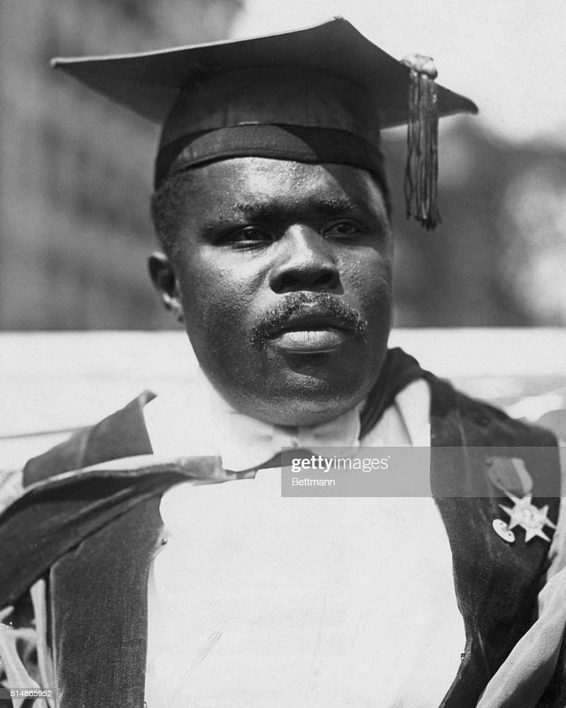 Civil Rights Activist Marcus Garvey : News Photo