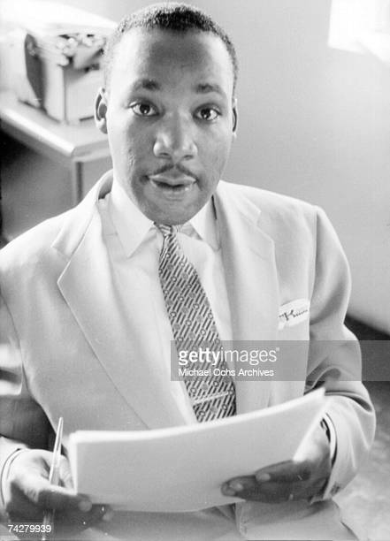 Civil rights leader Reverend Martin Luther King Jr relaxes at home in May 1956 in Montgomery Alabama