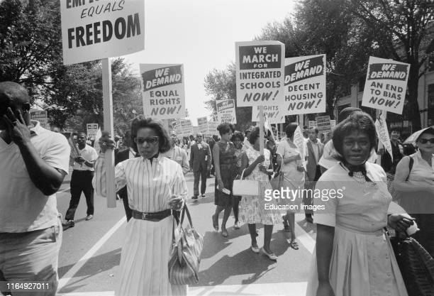 Civil Rights March Washington DC USA Warren K Leffler August 28 1963
