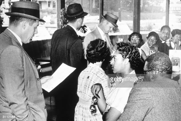 Civil rights protesters during a sitin at Rockville Maryland