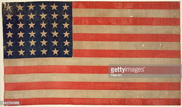 Civil War era thirtysix star American flag print on linen c 186467