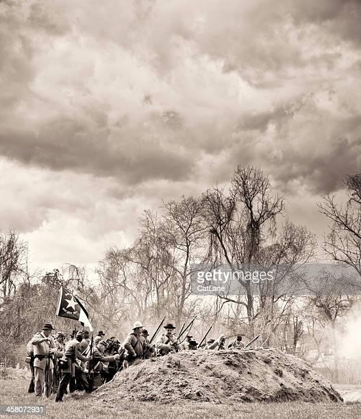 Civil War Reenactors - Battle Underway