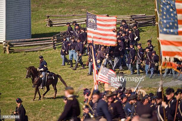 US Civil War Union Infantry in Shenandoah Valley
