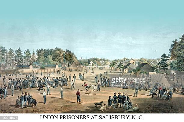 Civil War Union Prisoners Play Ball while Incarcerated