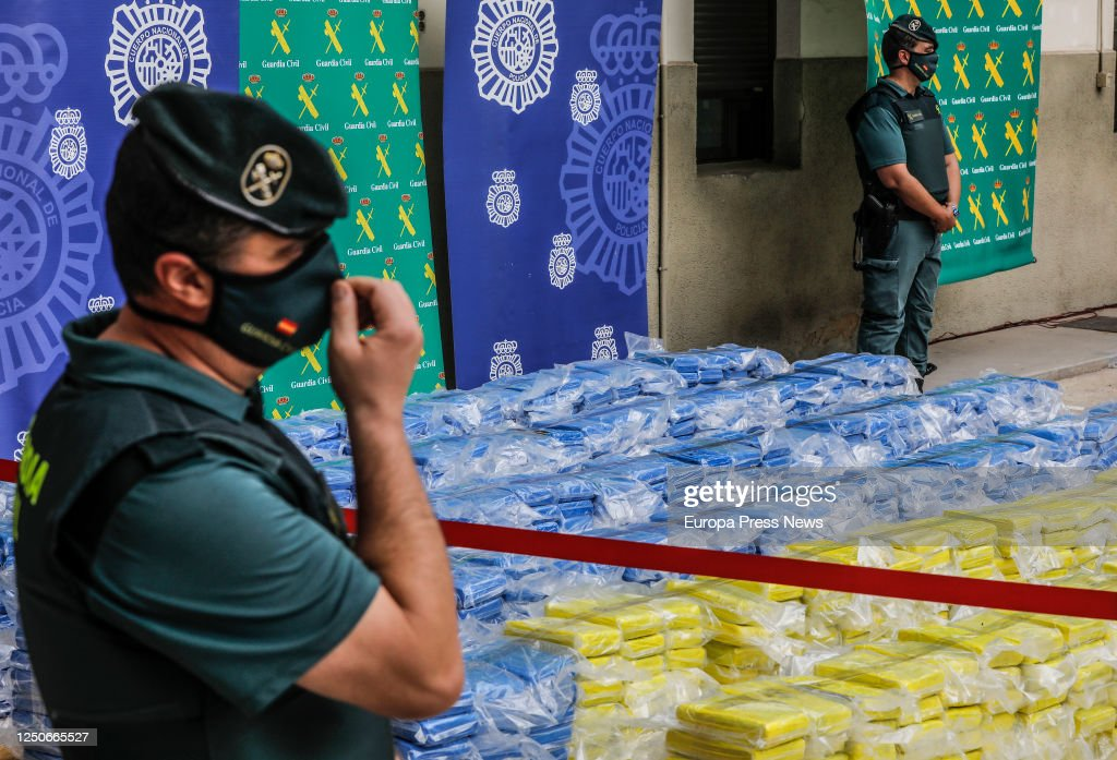 Almost 4 Tons Of Cocaine Seized In The Port Of Valencia : News Photo