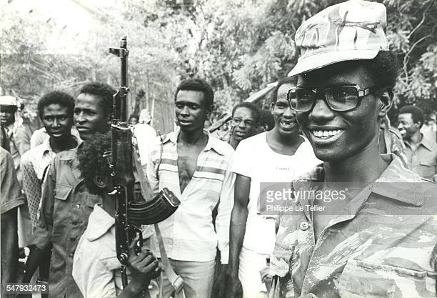 Civilians and military personnel in N'Djamena in Chad during the Hissène Habré coup d'etat, Chad, 4th June 1982.