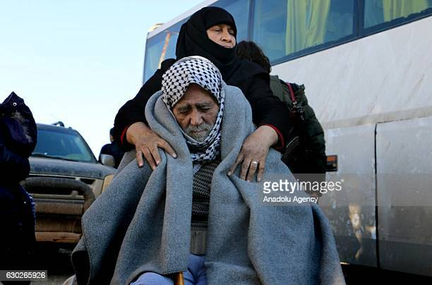 Civilians evacuated from East Aleppo which was under siege by Assad regime forces and its supporter foreign terrorist groups arrive at Rashedeen town...