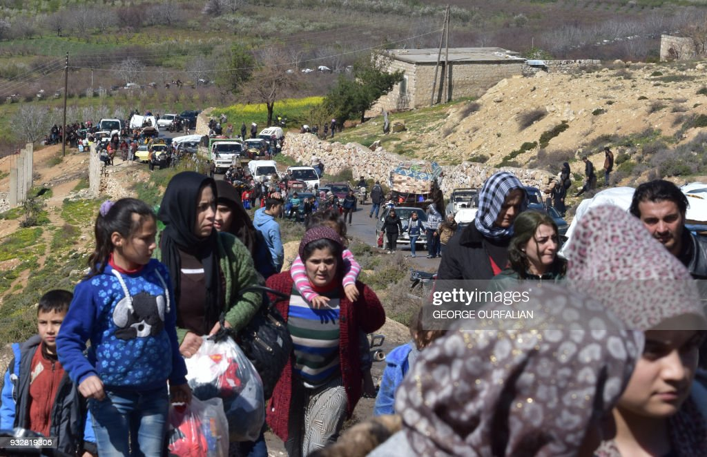 SYRIA-TURKEY-CONFLICT-DISPLACED : News Photo