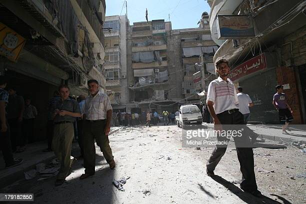 CONTENT] Civilians leave scene of bombardment On July 24th Syrian Army Forces have shelled residential area of Bustan Al Qasr killing a dozen of...