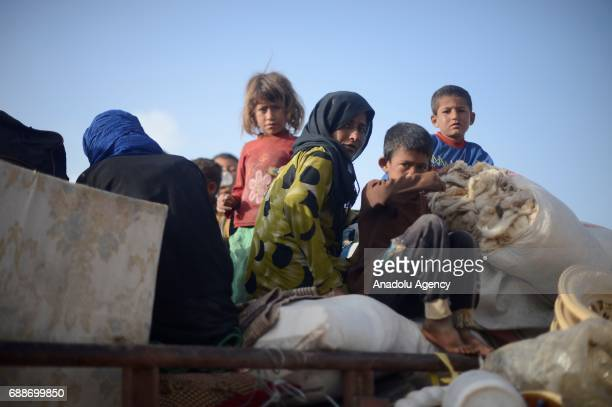 Civilians who were forced to migrate after PYD/ PKK terrorist organizations seized their identification cards and official documents arrive in...