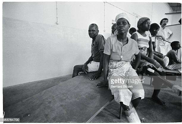 Civilians wounded by landmines from the Renamo guerillas at an ICRC center