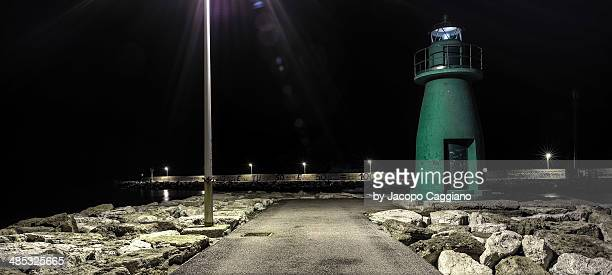 civitanova marche lighthouse - jacopo caggiano stock pictures, royalty-free photos & images