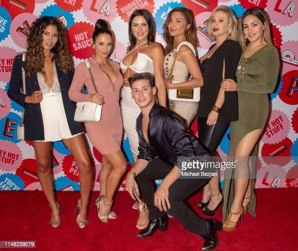 Cj Franco Melissa Riso Kelsie Jean Smeby Raven Lexy Julie McClain and Aryana Khani arrive to PERIA Robertson 2 Year Anniversary Red Carpet...
