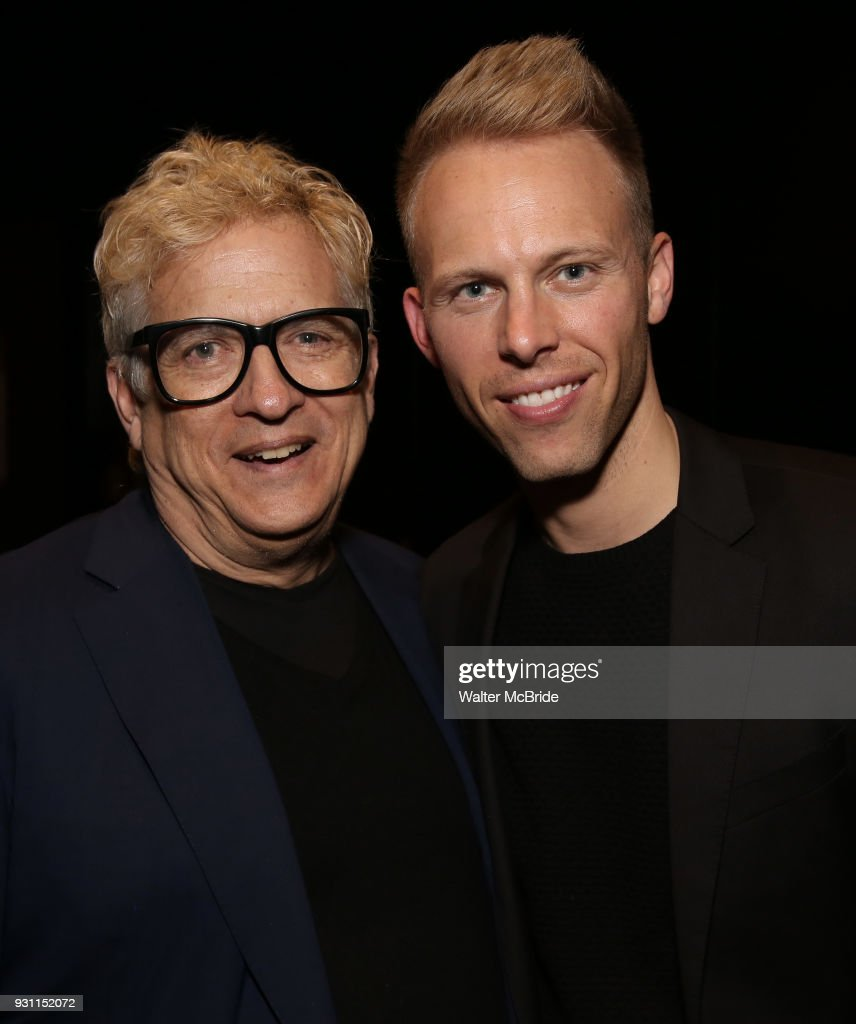 CKen Fallin and Justin Paul attends The Dramatists Guild Foundation Salon with Matt Gould on March 12, 2018 at StellarTower in New York City.