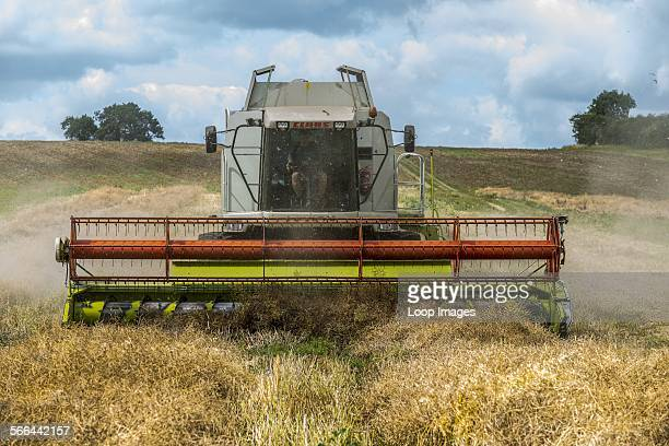 A Claas combine harvester ready for work