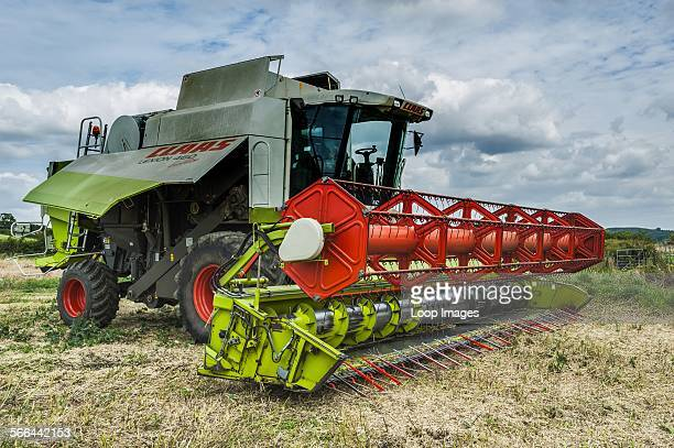 A Claas combine ready for harvesting