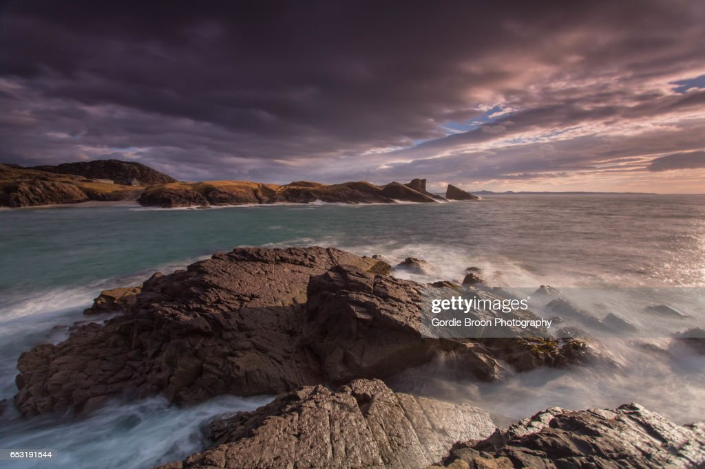 Clachtoll Bay. : Stock Photo