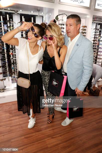 ClacyLacy Juhn Ella Endlich and Joachim Llambi at the Late Night Shopping at Designer Outlet Soltau on August 3 2018 in Soltau Germany