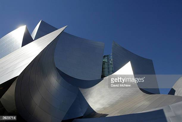 Clad in more than six thousand steel panels the curving and folding exterior walls of the new Walt Disney Concert Hall are shown October 20 2003 in...