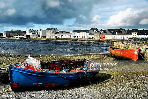 claddagh boats - galway stock pictures, royalty-free photos & images