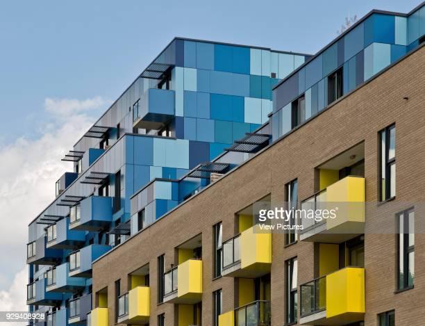 Cladding detail Central Park Apartments Lewisham London United Kingdom Architect bptw partnership 2014