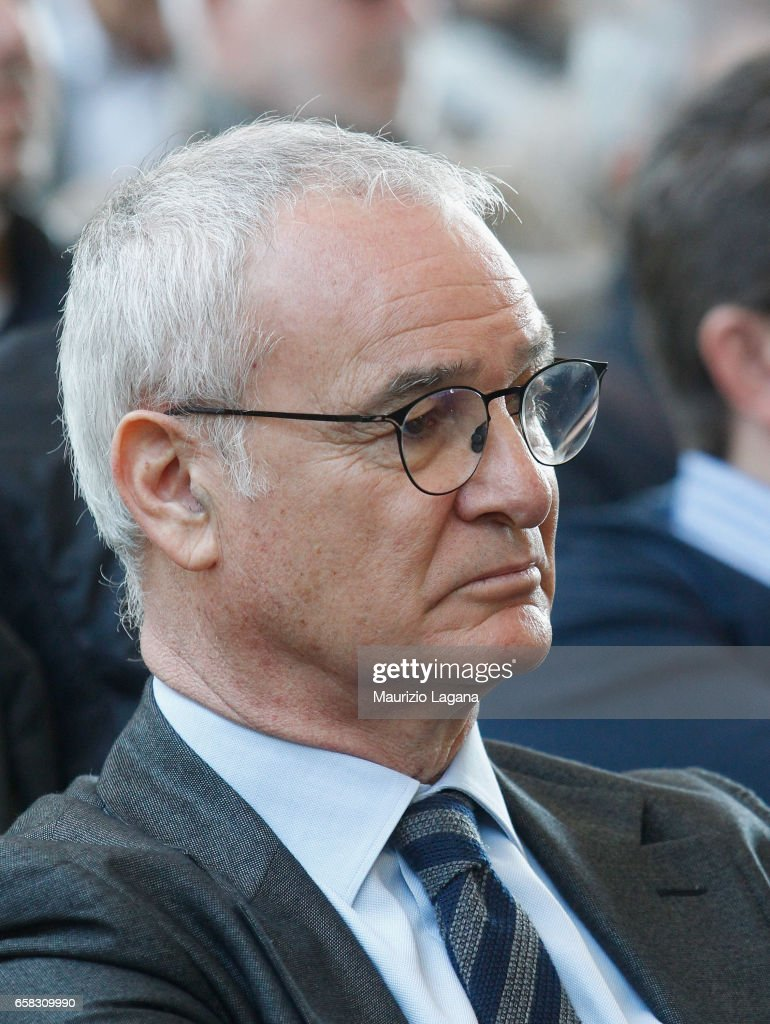 Cladio Ranieri attends at Italian Football Federation 'Panchine D'Oro E D'Argento' Prize at Coverciano on March 27, 2017 in Florence, Italy.
