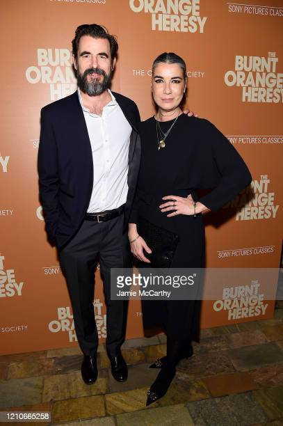 """Claes Bang and Liz Louis-Jensen attend Sony Pictures Classics and The Cinema Society Special Screening of """"The Burnt Orange Heresy"""" at The Roxy..."""