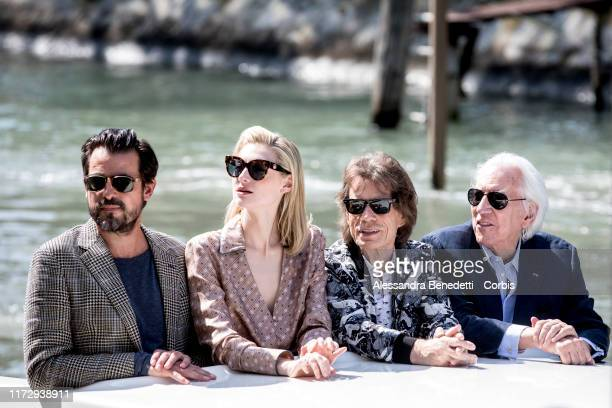 Claes Bang Elizabeth Debicki Mick Jagger and Donald Sutherland are seen arriving at the 76th Venice Film Festival on September 07 2019 in Venice Italy