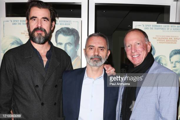 """Claes Bang, Giuseppe Capotondi and David Lancaster attends the LA special screening of Sony's """"The Burnt Orange Heresy"""" at Linwood Dunn Theater on..."""