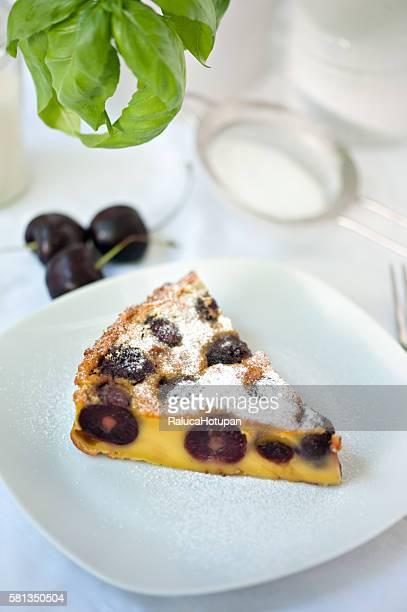 clafoutis with dark cherries
