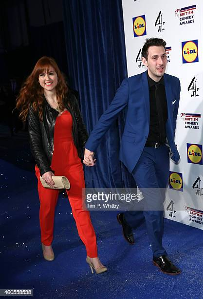 Clair Meek and Blake Harrison attend the British Comedy Awards at Fountain Studios on December 16 2014 in London England